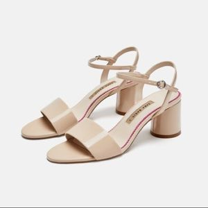 Zara Faux Patent Leather Sandals
